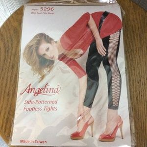 New sexy side pattern footless tights - one size